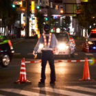 交通規制の画像