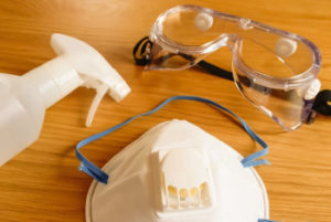マスクと眼鏡の画像