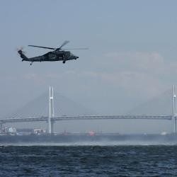 海辺の救難ヘリの画像