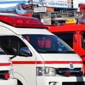 救急車と消防車の画像